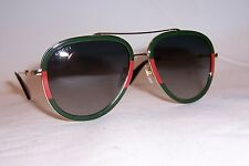 NEW GUCCI SUNGLASSES GG 0062S 003 GOLD/GREEN AUTHENTIC 0062