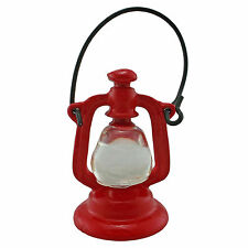 Vintage Red Metal Oil Lamp Hanging Light 1:12 Doll's House Dollhouse Miniature