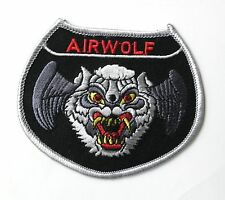 USAF AIR FORCE AIRWOLF WOLF EMBROIDERED PATCH 3 INCHES