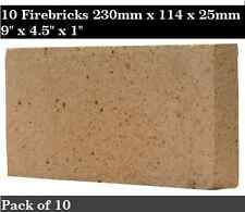"1"" inch Clay Fire bricks cooker pizza oven firebricks BBQ heat set of 10"