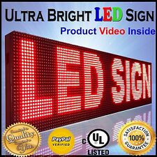 """13""""X38"""" Outdoor Led Signs Red Scrolling Electronic Business Message Boards Open"""