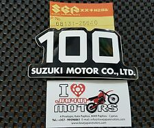 SUZUKI TS100 TC100 DS100 NEW GENUINE 100 EMBLEM DECAL 68131-25640