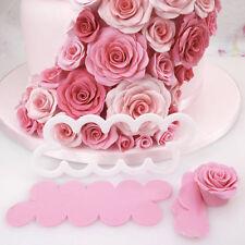 3D Rose Silikon Petal Blumen-Cutter Kuchen Form Fondant Werkzeug Dekorieren Mold