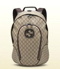 New Gucci Supreme Canvas Interlocking G Backpack Travel Bag 223705 8588