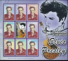 ELVIS PRESLEY #2539 Commemorative Sheet of 9 MNH - Dominica E53