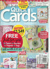 QUICK CARDS MADE EASY,  APRIL, 2014 ( YOUR FAVOURITE CARD MAKING MAGAZINE )