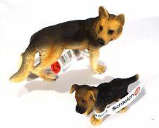 New Schleich German Shepherd Family - Female # 16375 Puppy # 16343