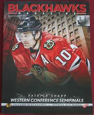 2013 Chicago Blackhawks Detroit Red Wings Playoffs Program Patrick Sharp Cover
