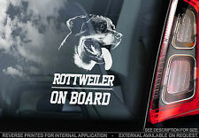Rottweiler - Car Window Sticker - Rottie Dog on Board Guard Sign - TYP1