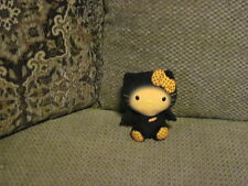 "HTF 6"" Retired TY Halloween Black & Orange HELLO KITTY Plush Bat"