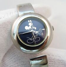 MICKEY MOUSE,Bangle Type,80's Quartz,All SS, KIDS CHARACTER WATCH,679 L@@K!