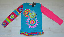 DESIGUAL GIRLS SHIRT LANGARM LONGSLEEVE MICHIGAN NEU Gr. 122 /128 /7 / 8 Y