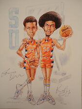 ROOSEVELT BOUIE+LOUIS ORR hand signed 11x14 color print      SYRACUSE BK LEGENDS