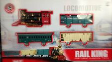 CLASSIC Toy Railway Binario Treno Set W / Light & Fumo SOUND enormi dimensioni regalo di Natale