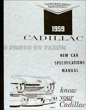 1959 Cadillac Optional Specifications Manual 59 Deville Eldorado Series 60 62 75
