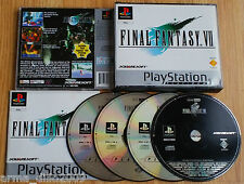 FINAL FANTASY VII 7 PLATINUM for SONY PS1, PS2 & PS3 COMPLETE by Square Soft