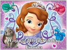 "Sofia The First Disney Personalised Cake Topper Edible Wafer Paper 7.5"" By 10"""