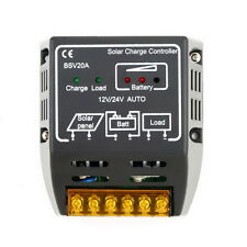 20A 12V/24V Solar Panel Charge Controller Battery Regulator Safe Protection OV