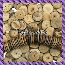 50 Beads Coconut disk 20 mm colours coconut Rustica