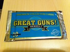 1990'S GREAT GUNS SERIES 1 PREMIUM COLLECTOR CARDS (unopened pack, 10 cards)
