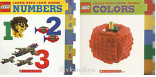 Learn with Lego Books Colors & Lego Numbers (BB) Scholastic 2 Book Set NEW