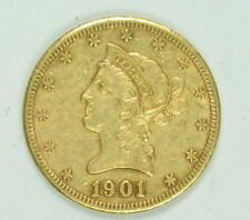 1901 S $10 Dollar Gold Liberty Head US Mint Eagle Coin
