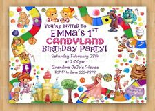 Candyland Girl or Boy Theme Birthday Party Invitations