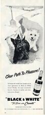 1957 Black & White Whiskey Scotish Clear Path to Pleasure PRINT AD