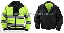 XXX-LARGE Black & Yellow Reversible Hi-Visibility Safety Waterproof Jacket 8722