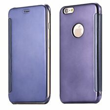 Smart Clear View Mirror Slim Case Flip Pouch Cover for iPhone Samsung Huawei LG