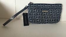 NEW ARRIVAL! TOMMY HILFIGER BLUE WALLET CLUTCH POUCH WRISTLET BAG PURSE $24 SALE