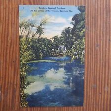 Vintage Postcard Rainbow Tropical Gardens, Boynton, Fla.