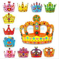 Children Kids Handmade 3D Crown Craft Kit Birthday Party Hat Educational DIY Toy