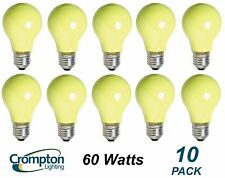 10 Pack YELLOW Coloured Bayonet Party / Festoon Light Globes 60W E27 A60