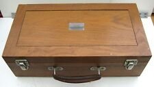 MARCONI INSTRUMENTS TYPE TM1438 18 COIL SET IN TM3313B WOODEN CASE - VINTAGE