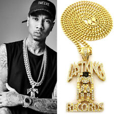 TYGA LAST KINGS DEATH ROW RECORDS CUBAN LINK CHAIN NECKLACE 14K GOLD GP HIP HOP