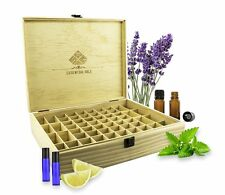 SXC Essential Oil Wooden Box Large Organizer - Large Wood Storage Case