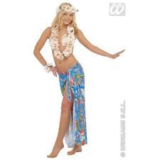 Deluxe Hawaiian Hula Girl Beach Party Fancy Dress Set Kit Leis Crown & Bracelet