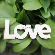 10pcs LOVE Word Unfinished Wooden Letters Home Room Decoration
