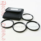 58mm 58 mm Macro Close Up Filter Kit +1 +2 +4 +10 for Canon Nikon camera + case