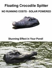 Solar Floating Crocodile Spitter Fun Pond Ornament Jet of Water No Running Costs