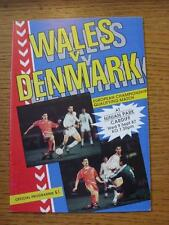 09/09/1987 Wales v Denmark [At Cardiff City] .  Any faults with this item will h