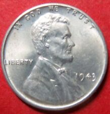 "*UNCIRCULATED  1943-P ""STEEL"" LINCOLN WHEAT WAR CENT, Philadelphia Mint #12"