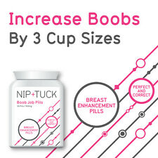 NIP & TUCK BOOB-JOB TABLET BREAST ENHANCEMENT PILLS SUPER STRENGTH BIG BOOBS