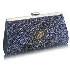 Peacock Clutch Bag Sequin Ladies Evening HandBag Wedding Races Prom Party New