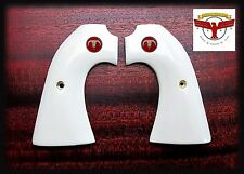 COLT BISLEY MAGNA-TUSK™ IVORY GRIPS ~ SINGLE ACTION ARMY SAA + Red Steer Skull