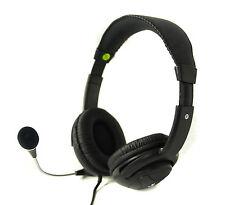 EYE-T BL-899 Black Headphone Headset With Microphone 3.5mm Jacks