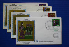 "Israel (638-641) 1977 Matriarchs of the Bible Zaso ""Silk"" FDCs"