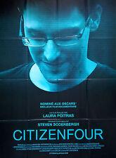 Affiche 120x160cm CITIZENFOUR 2015 Poitras - Julian Assange, Jeremy Scahill  TBE