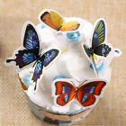 50X Butterflies Wedding Birthday Edible Rice Wafer Paper Cupcake Cake Toppers FM
